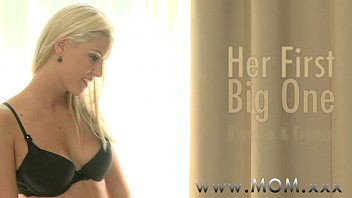 Blonde impaled on a big black cock in MomXXX interracial scene